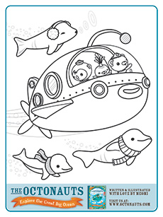 octonauts beluga - Activity Coloring Sheets